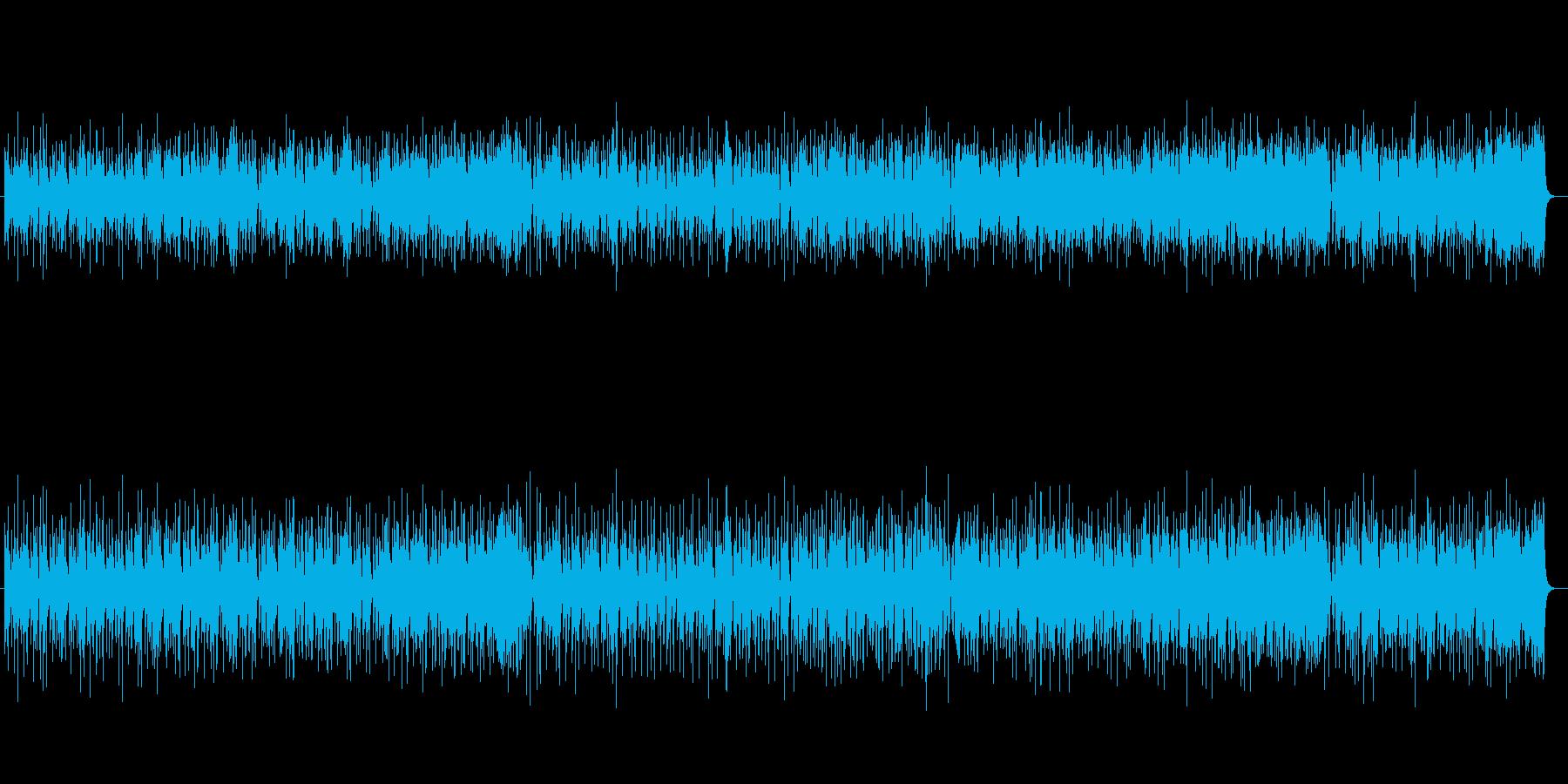 ノリの良いアップテンポ・フュージョンの再生済みの波形