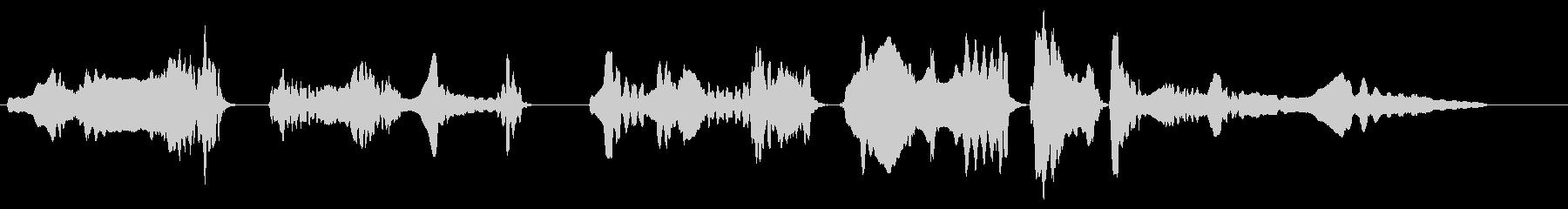 尺八の独奏 生演奏 和風のシーンなど 1の未再生の波形