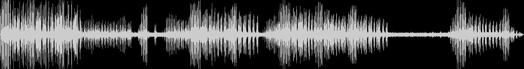 水辺で聴こえるコオロギの鳴き声の未再生の波形