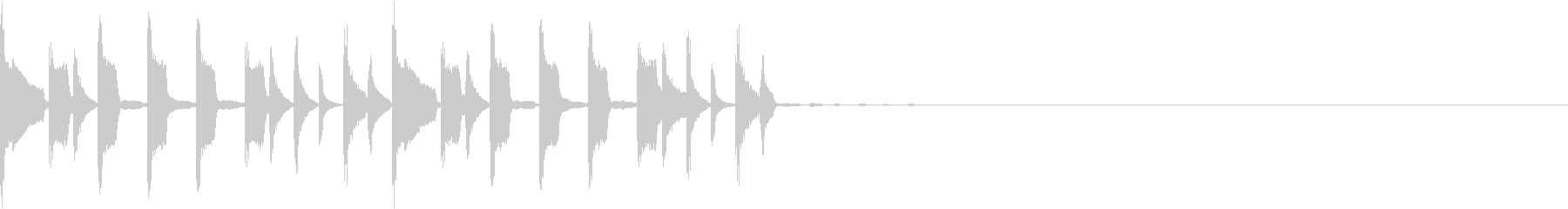 スローなトラップジングル2の未再生の波形