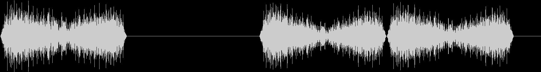 DJプレイ スクラッチ・ノイズ 9 煽りの未再生の波形