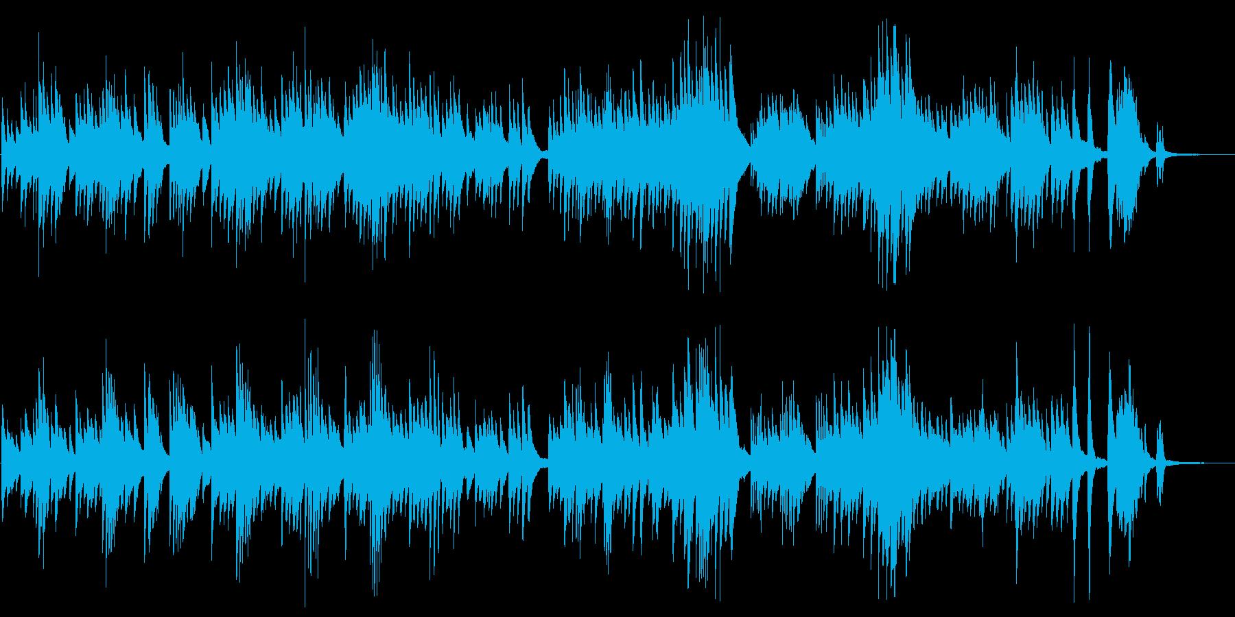 叙情的なピアノが印象的なBGMの再生済みの波形