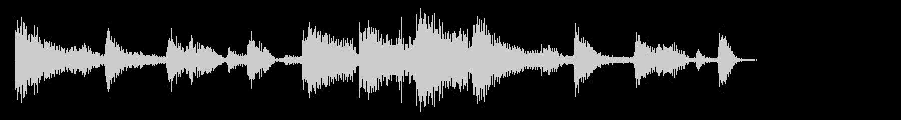 緩めのツインギターでのブルースジングルの未再生の波形