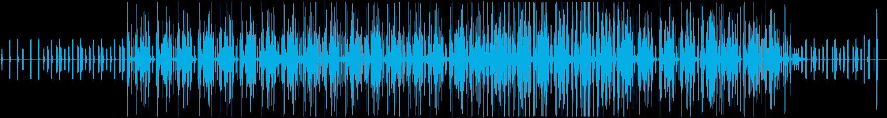 不思議で近未来的な映像に合う電子音楽の再生済みの波形