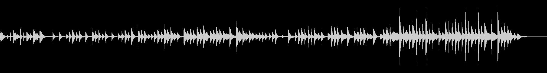 素朴で美しいピアノバラードの未再生の波形