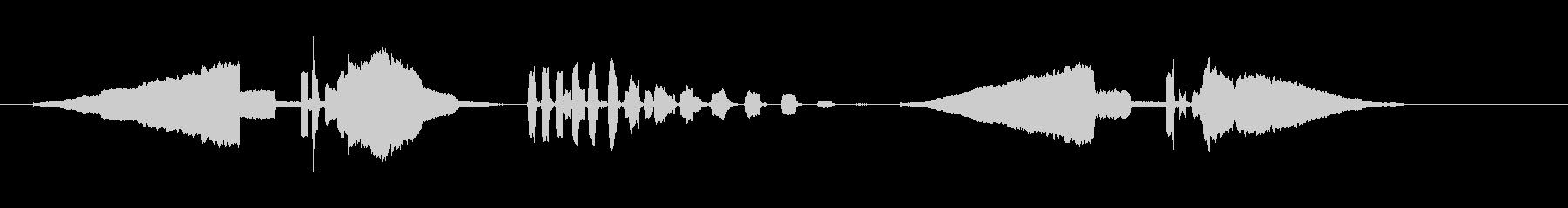 うぐいす笛1エコー梅に鶯春鳴き声初音ホーの未再生の波形