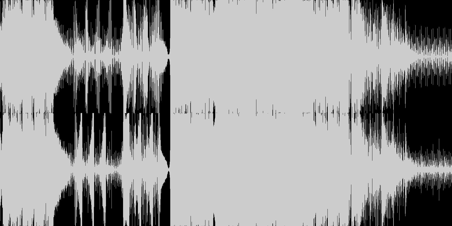 ピアノが動き回るエレクトロニカ ループの未再生の波形