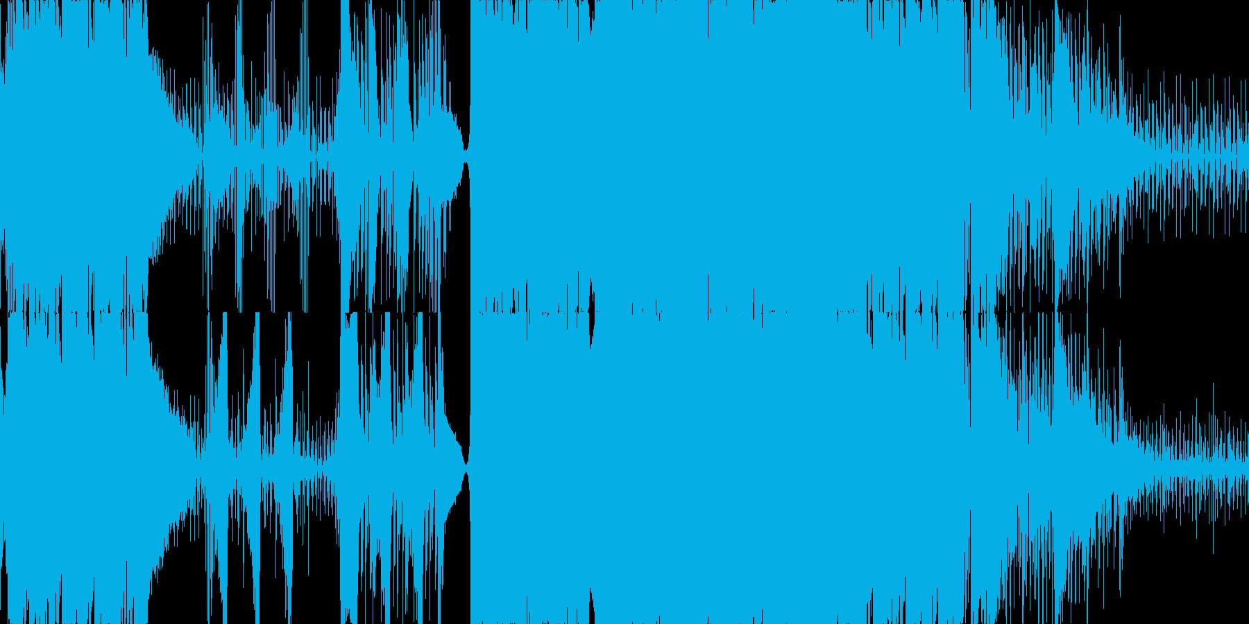 ピアノが動き回るエレクトロニカ ループの再生済みの波形