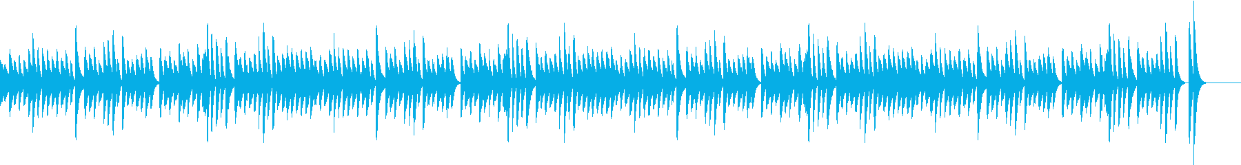 お料理動画にぴったり!軽快ピアノBGMの再生済みの波形
