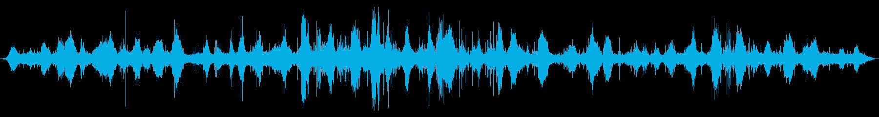 海洋:遅い重い波がやってきて、小さ...の再生済みの波形