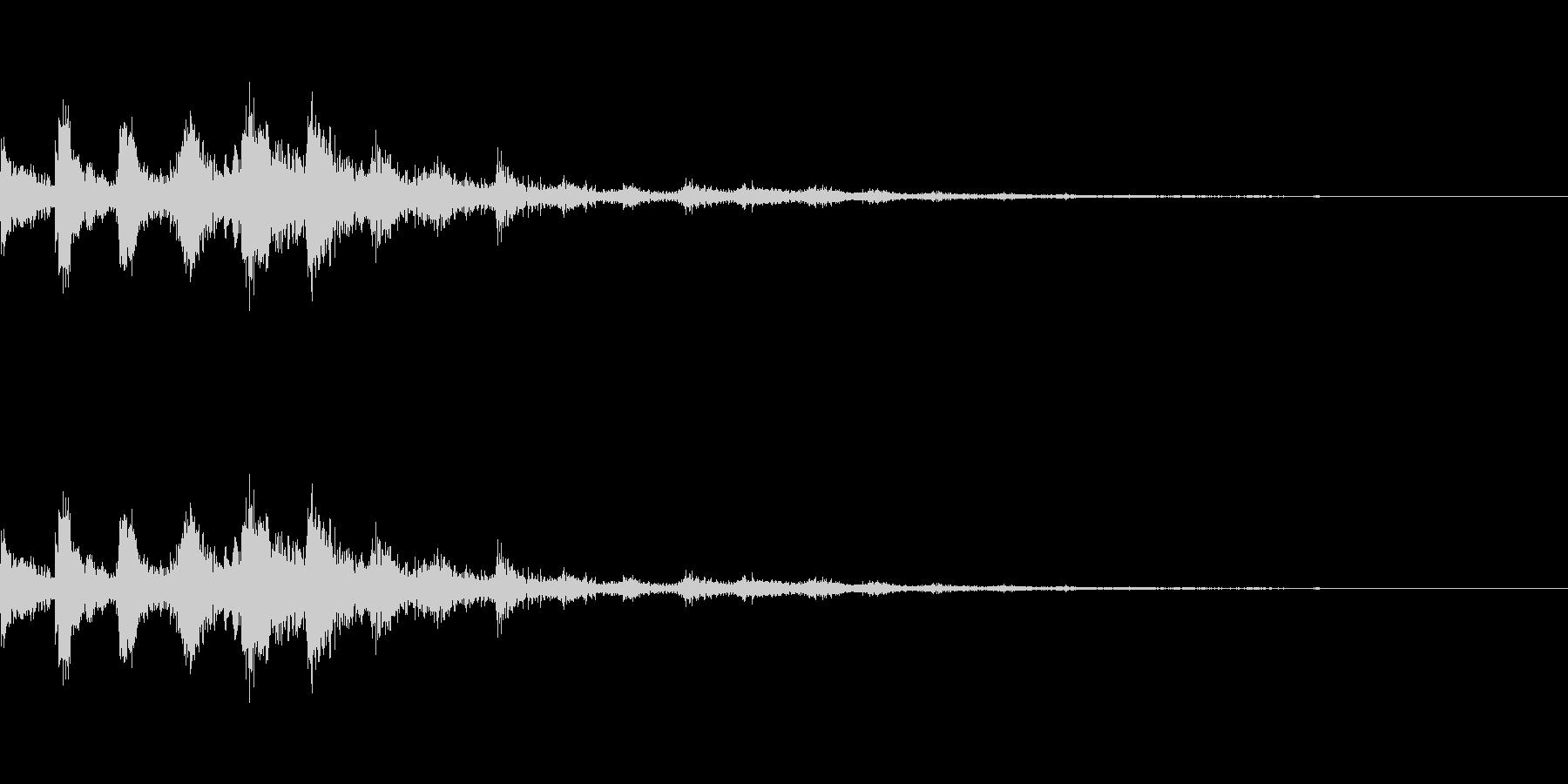 ラティゴ8をシューッという音の未再生の波形