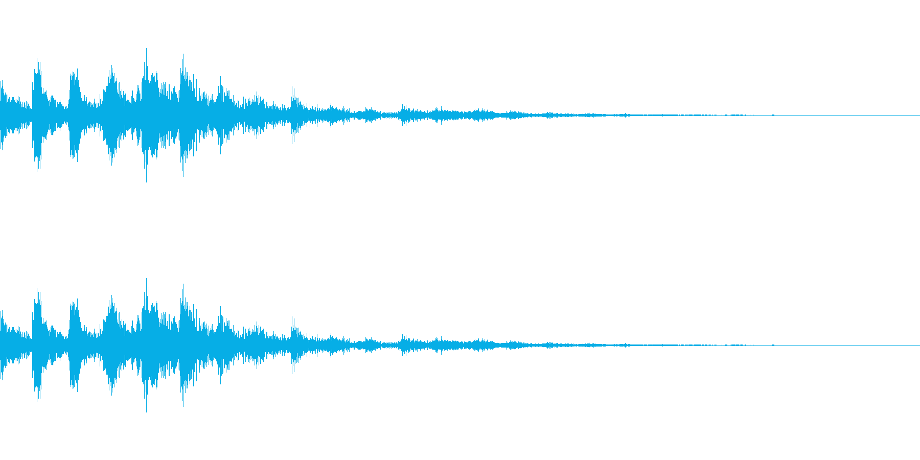 ラティゴ8をシューッという音の再生済みの波形