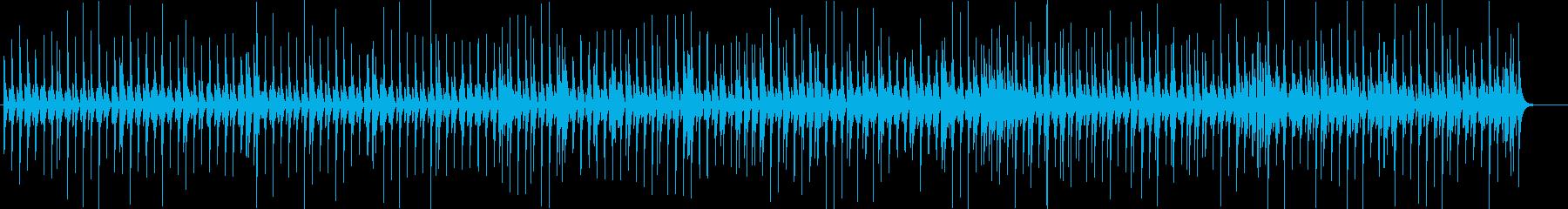 リズムゲーム風 陽気なリズムの再生済みの波形
