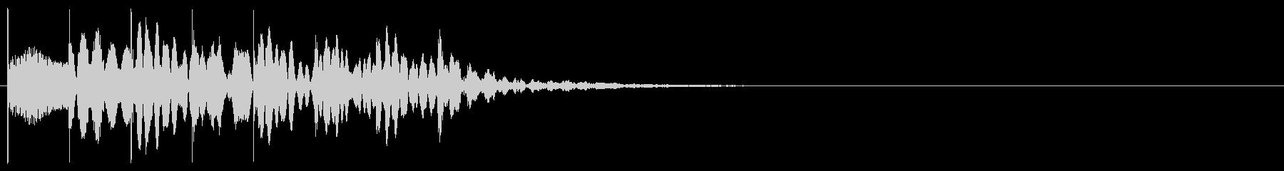 マリンバのワンショットジングルの未再生の波形