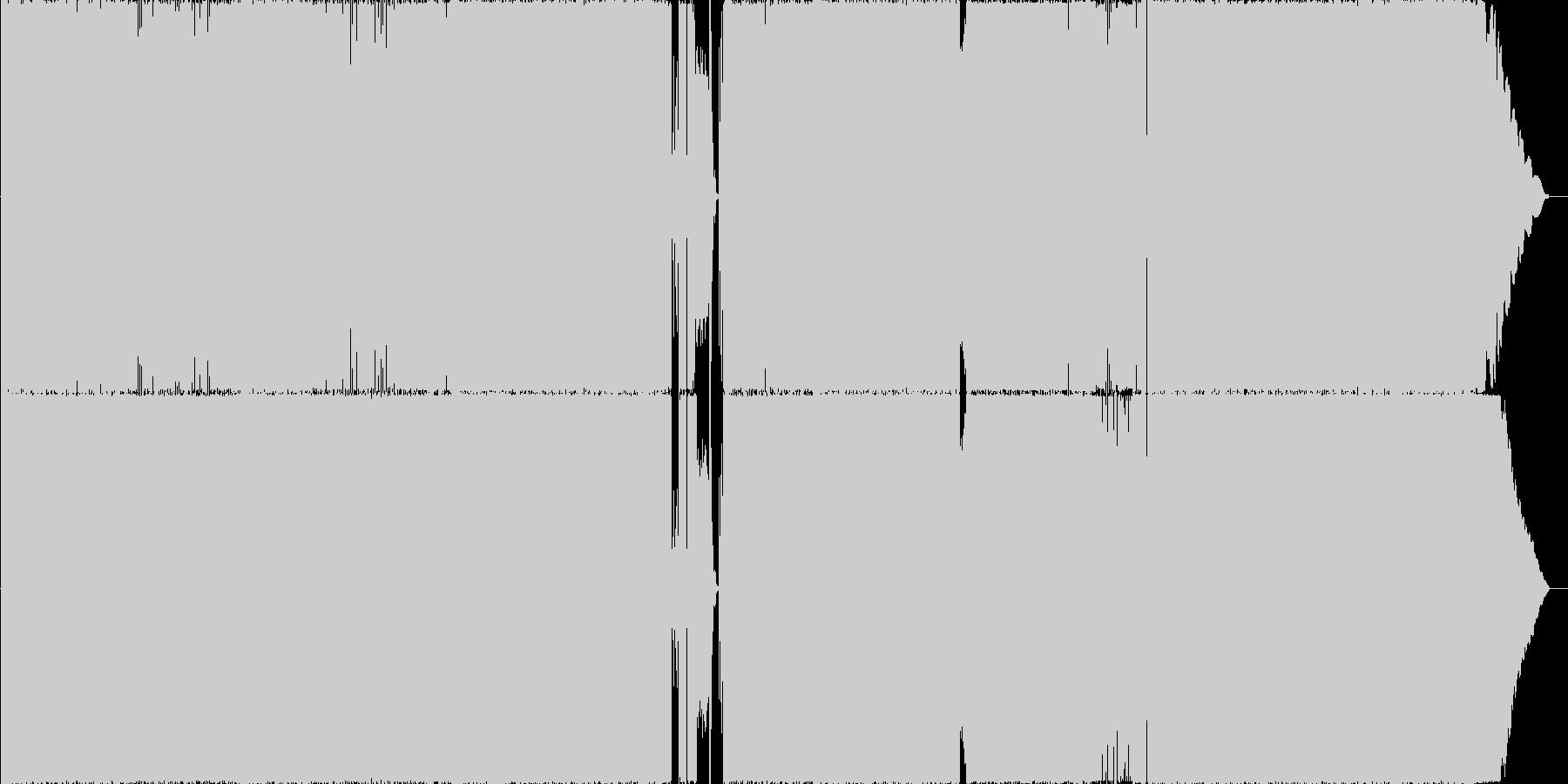 疾走するドライブ感のあるロックサウンドの未再生の波形