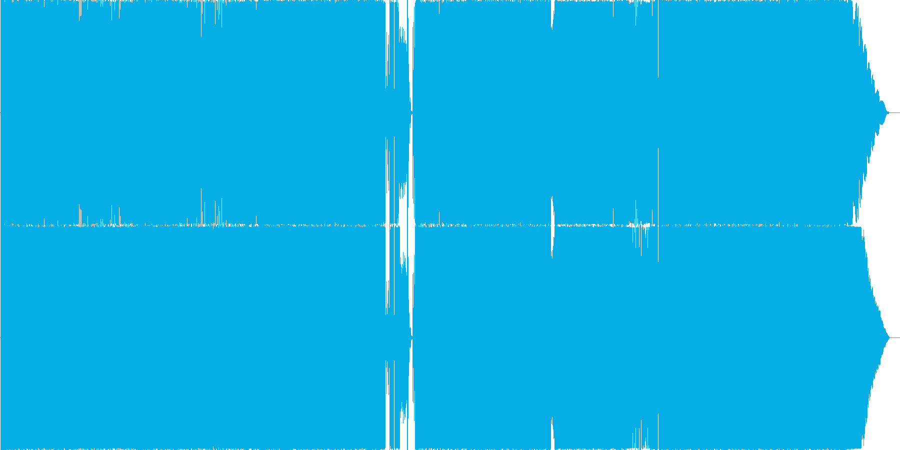 疾走するドライブ感のあるロックサウンドの再生済みの波形