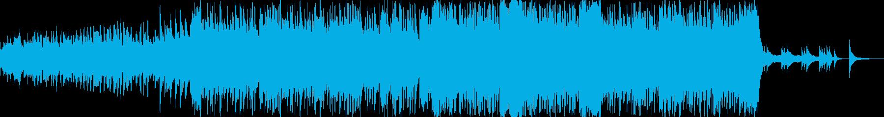 華やかで明るいイメージのBGMの再生済みの波形