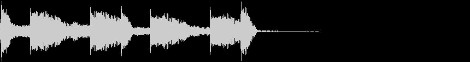 ファンタジーなファンシージングルの未再生の波形