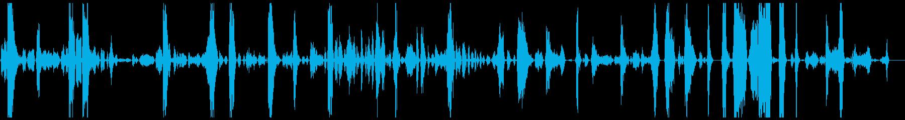 モンスターの茎の獲物の再生済みの波形