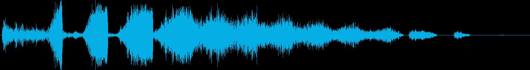 スペーススキャナーまたはコミュニケ...の再生済みの波形