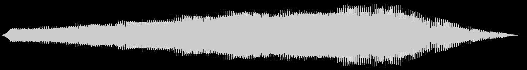 長いブザー付きスタッター変換の未再生の波形