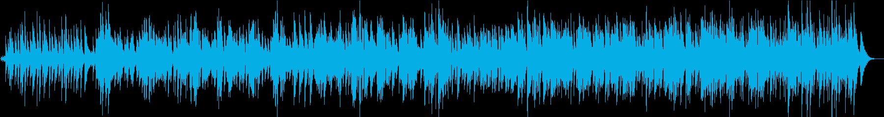 ゆったりしたボサノバのBGMの再生済みの波形