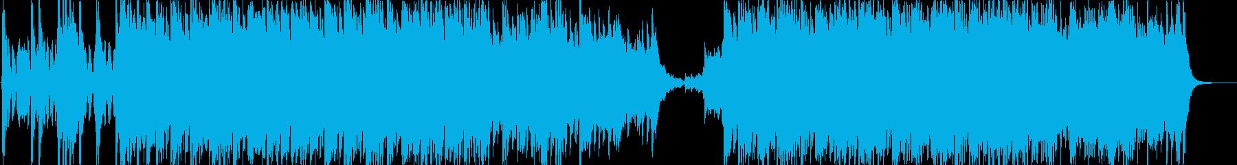 応援歌っぽいコーラスの前向きなインストの再生済みの波形