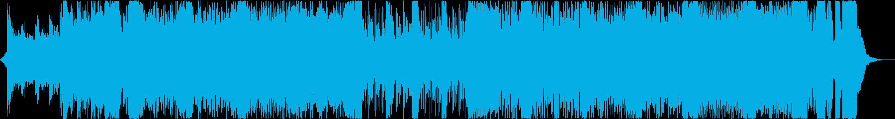 メタル、シネマティック、パワフルの再生済みの波形