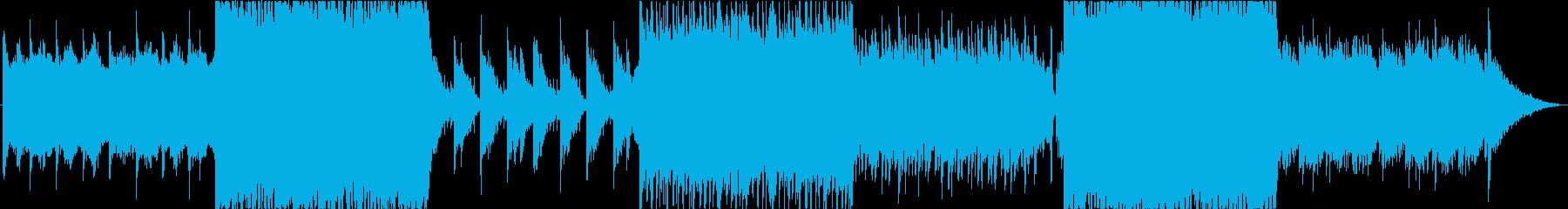 【BGM】ストリングスが印象的なトラックの再生済みの波形