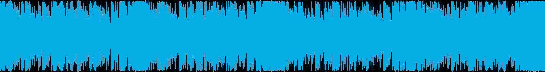 シンセEDMループBGMメインシンセ無しの再生済みの波形