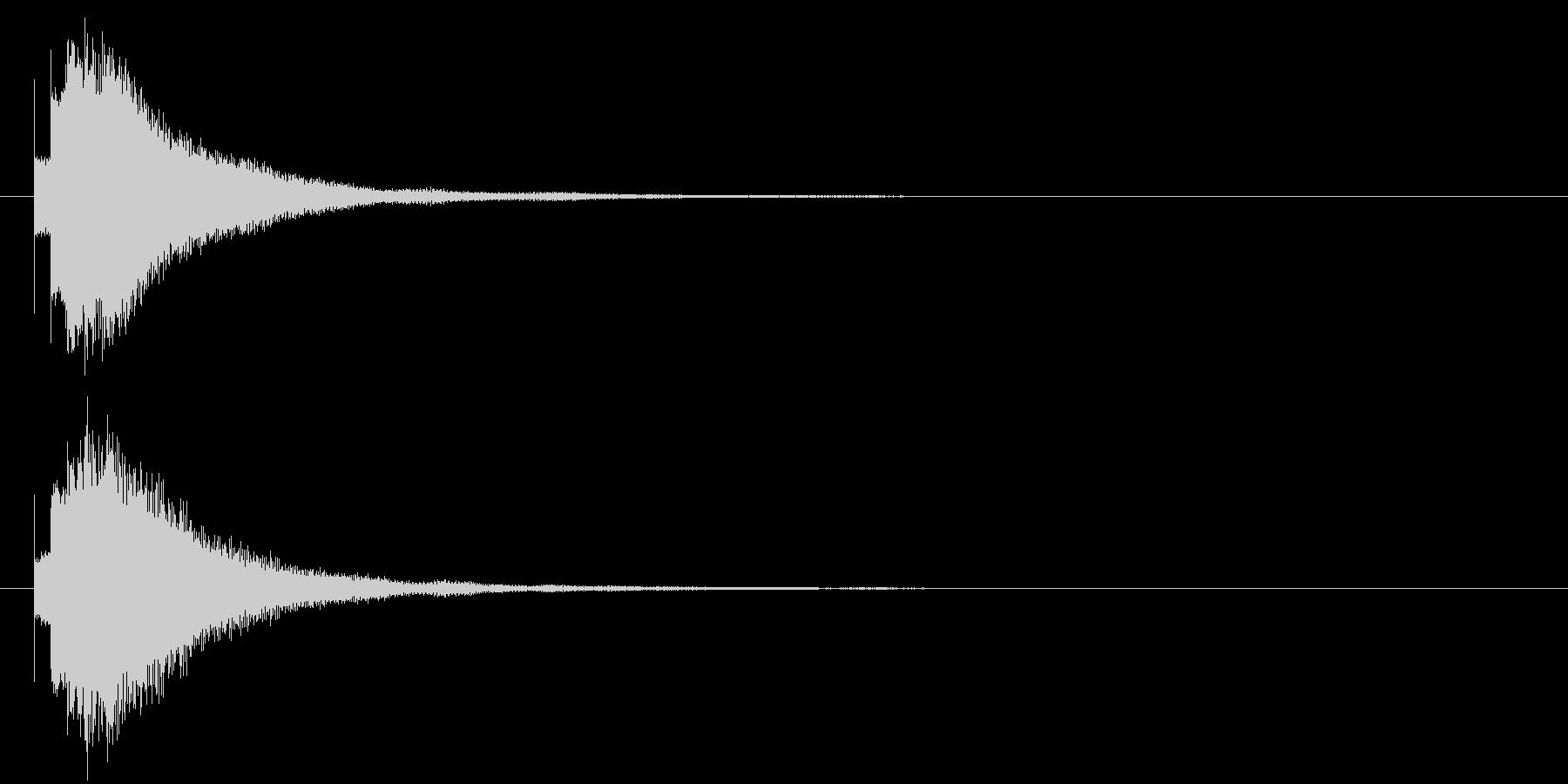 キラリン⑧(星・ひらめき・完成・輝き)の未再生の波形