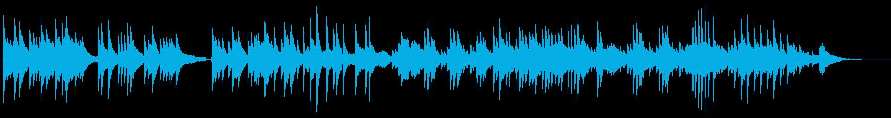 ピアノによる美しいバラード曲の再生済みの波形