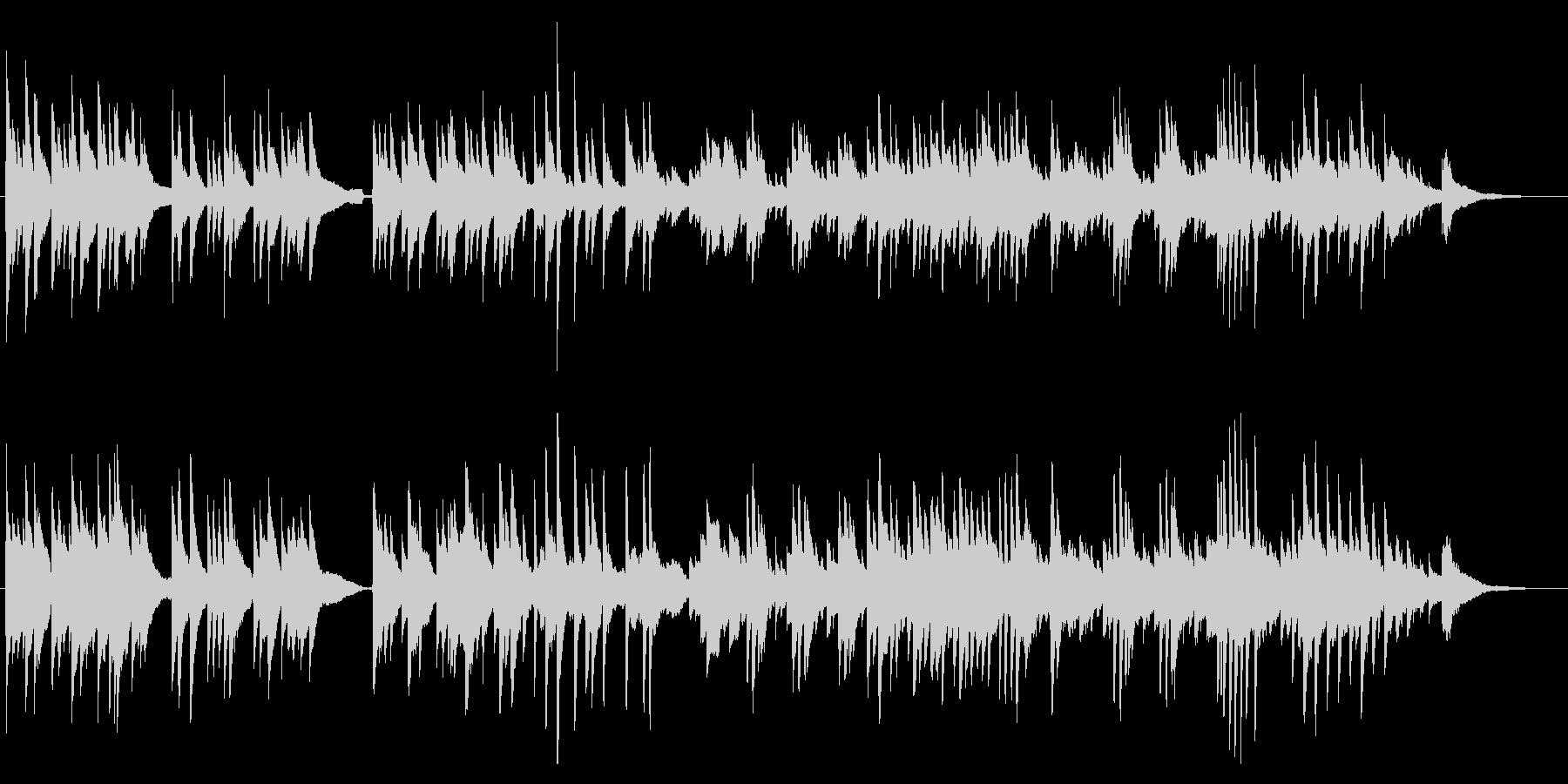 ピアノによる美しいバラード曲の未再生の波形