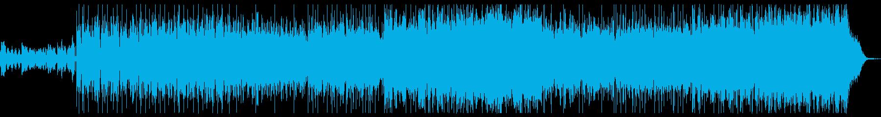 エレクトロヒップホップの再生済みの波形