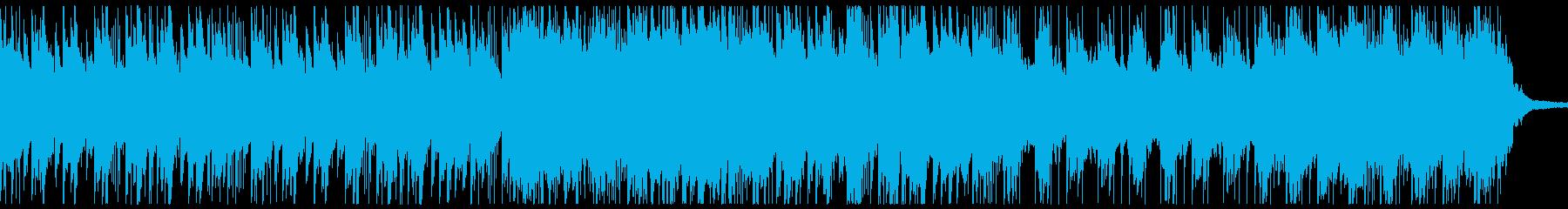 ピアノとストリングスがメインの悲しい曲の再生済みの波形
