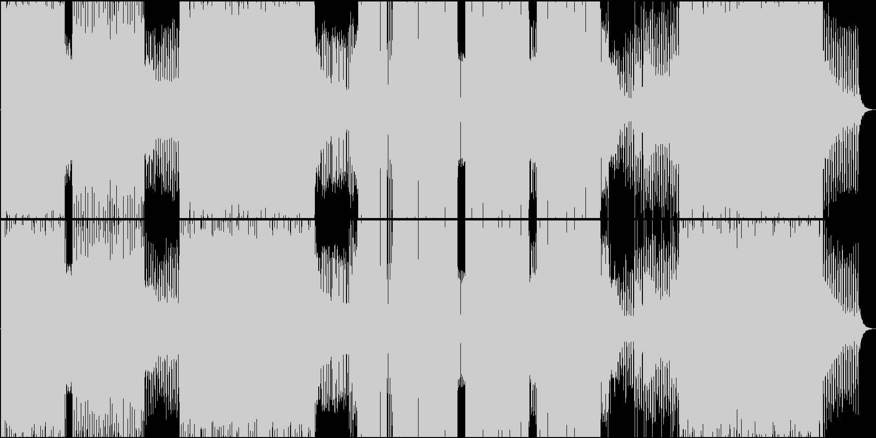 ファンキーとシャッフルが楽しめるEDMの未再生の波形