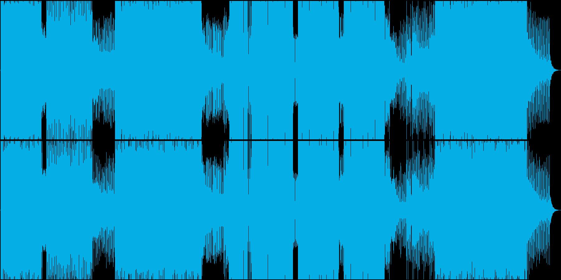 ファンキーとシャッフルが楽しめるEDMの再生済みの波形