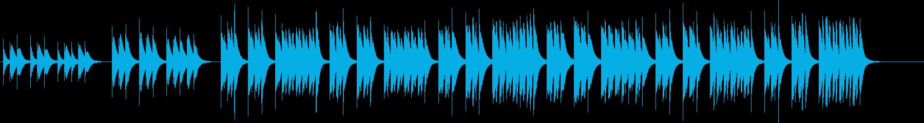 木琴で作った軽快で短い曲の再生済みの波形