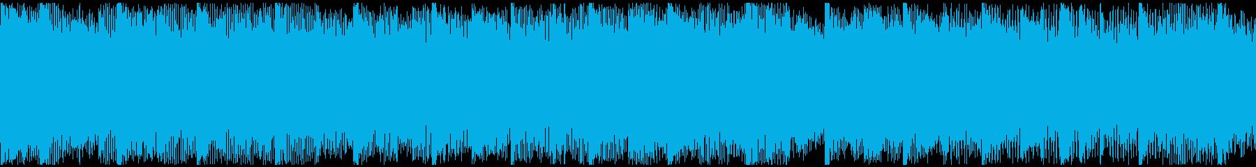 バイクで爆走したくなる洋楽風の曲-ループの再生済みの波形