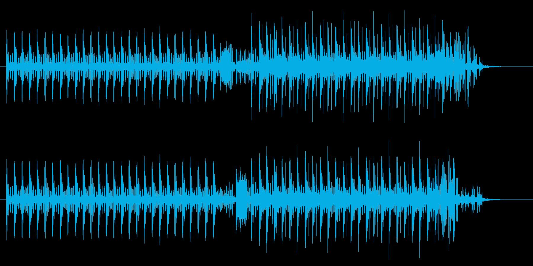 神秘的で近未来感あるテクノポップジングルの再生済みの波形