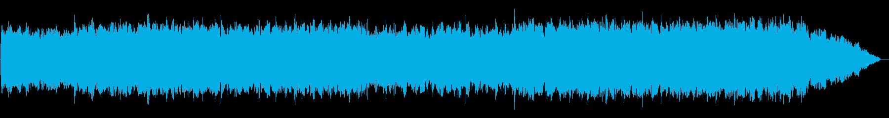 竹笛のメロディーの浮遊感のあるBGMの再生済みの波形