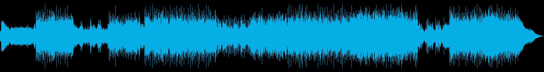 女性Voの激しいギターロックサウンドの再生済みの波形
