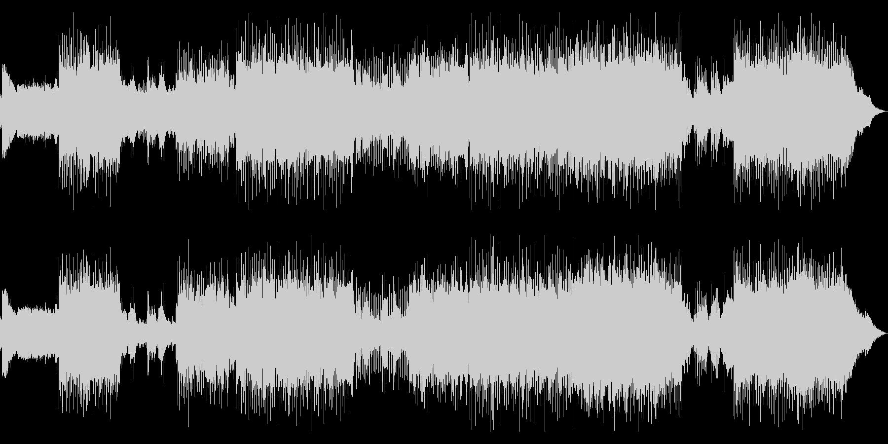 女性Voの激しいギターロックサウンドの未再生の波形
