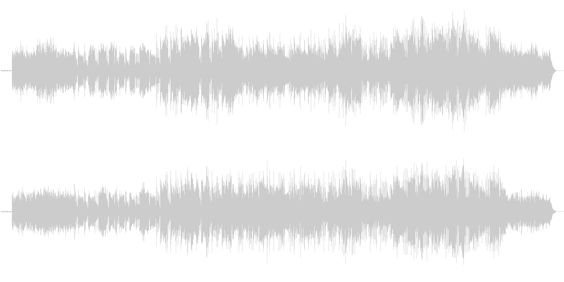 メロディがドラマチックなシンセ曲の未再生の波形
