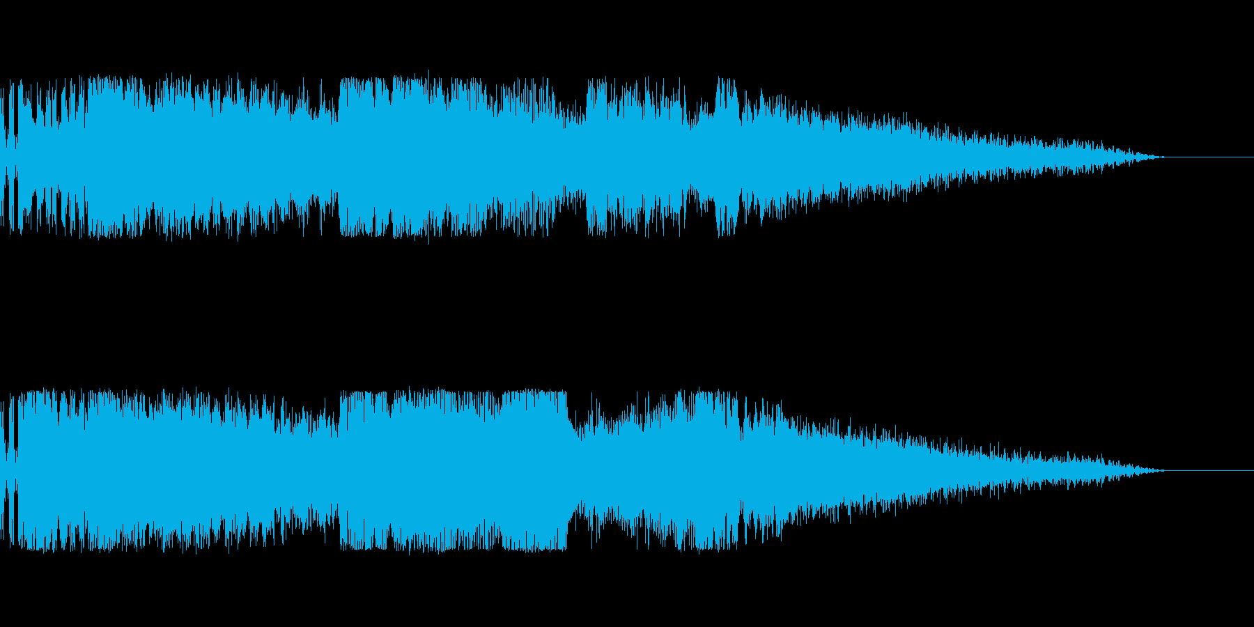 海外のFM番組のジングルっぽいサウンドの再生済みの波形