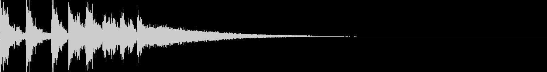 シンスウェーブなファンファーレの未再生の波形