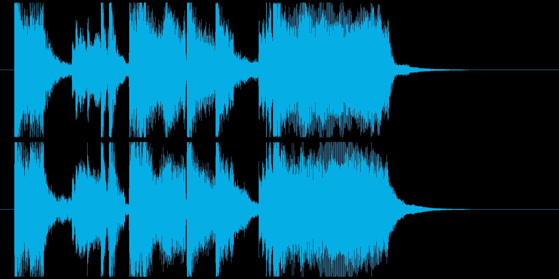 おしゃれなエレクトロニカ風ジングル の再生済みの波形