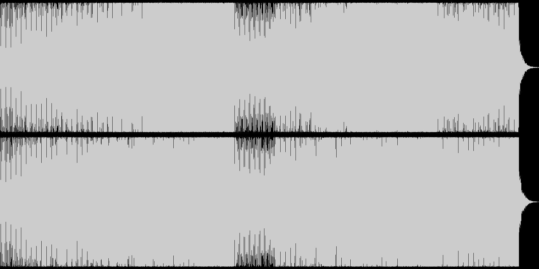 サイバーなEDMの未再生の波形