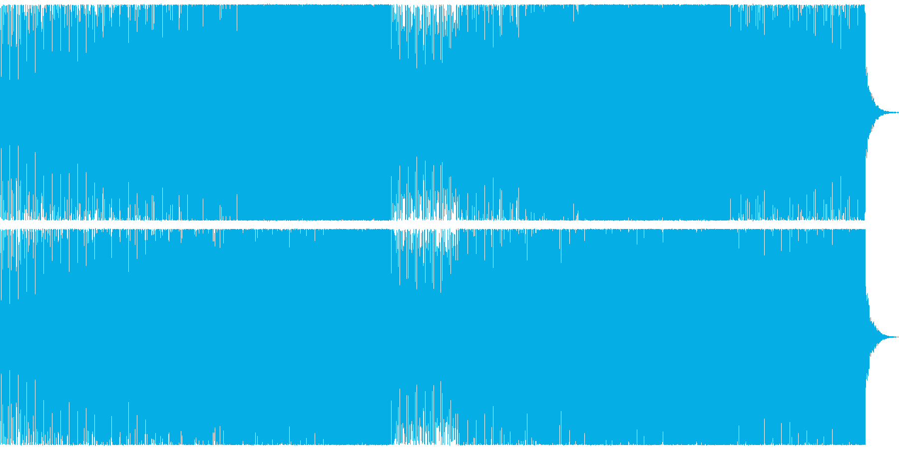 サイバーなEDMの再生済みの波形