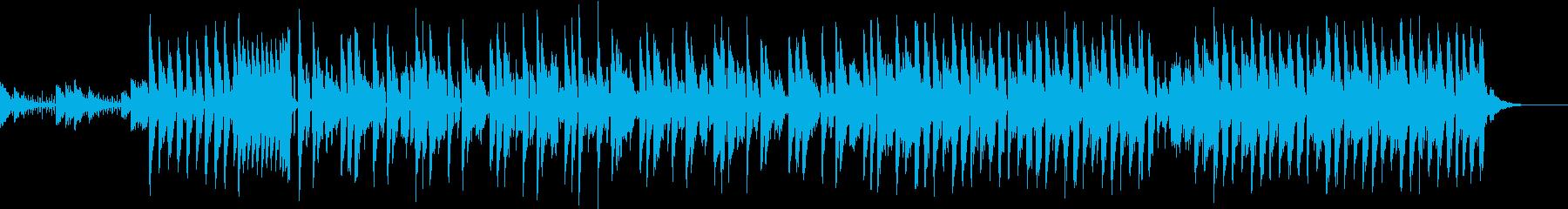 エレクトリックで爽やかな曲の再生済みの波形